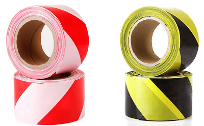 Hazard Warning Barrier Tape Roll - Non Adhesive - Various Colours - 200m X 70mm