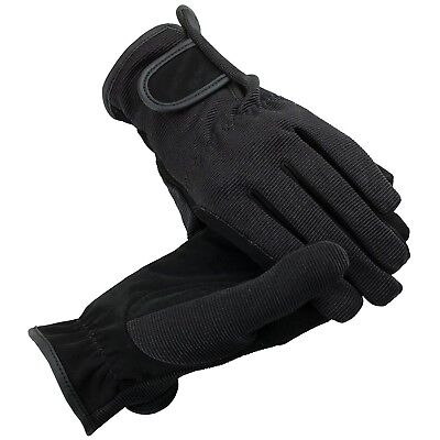 (Small, Black) - HorZe Multi-Stretch Riding Gloves. Delivery is Free