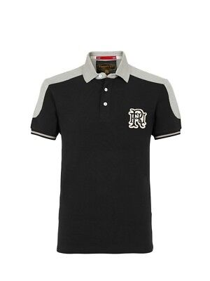 (X-Large, Z78 Black) - Front Up Rugby Men's World Tour Short Sleeve Polo T-Shirt
