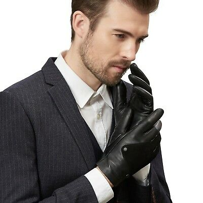 (10, Black1) - GSG Novelty Sheep Suede + Genuine Leather Driving Gloves