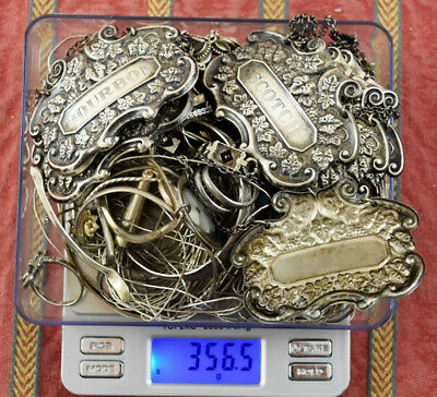 356.5 Grams Sterling Silver .925 - Scrap and Wearable Lot Z