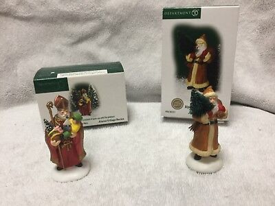 Department 56 Alpine Village St Nicholas & Alpine Santa