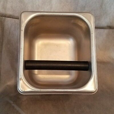 commercial 6 x 7 x 4 stainless espresso knock box pan