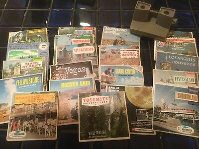 "Viewmaster and Lot of 21 Viewmaster Picture Packs Late 1960""s and 1974 (1Pkg)"