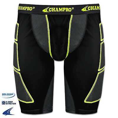 (X-Large, Black) - Champro Mens ADULT Baseball Softball Sliding Shorts BPS12