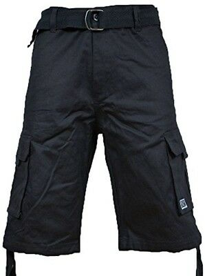 (38) - Pro Club Men's TWILL CARGO SHORT PANTS - Charcoal. Shipping Included