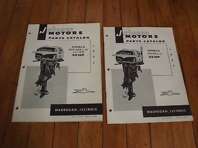 Vintage 1957 Johnson Outboard Motor 35 Hp Parts Catalog Sea-Horse-Rd-Rdl-Rde 19