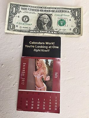 Sexy girl 2018 sticky back calendar~13 different pictures~free post~lot of three