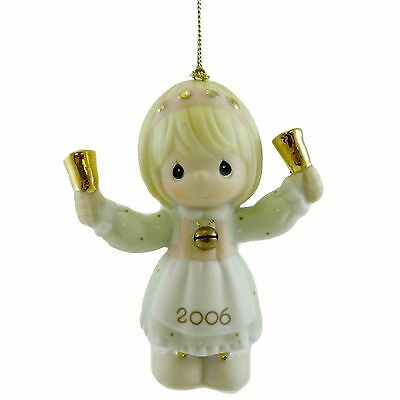 2006 Precious Moments Christmas Ornament RINGING IN THE SEASON Bell #610002 New