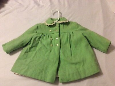 Vintage Breman and Tanner Baby  Light Green Wool Coat