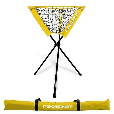(Yellow) - PowerNet Baseball Softball Portable Batting Practise Ball Caddy