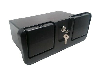 Pactrade Marine Boat RV Truck ABS Locking Plastic Glove Box With Two Drink