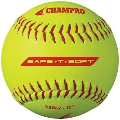 Champro Safe-T-Softball Cover (Optic Yellow, 30cm ), Pack of 12