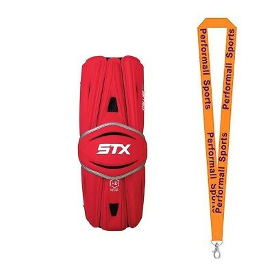 (Large, Red) - STX Bundle: Stallion HD Lacrosse Arm Guards + 1 Performall