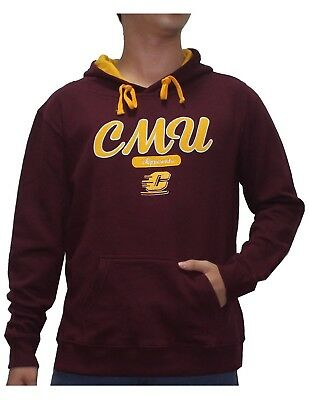 (S, Dark Red) - NCAA Youth CENTRAL MICHIGAN CHIPPEWAS Athletic Pullover Hoodie