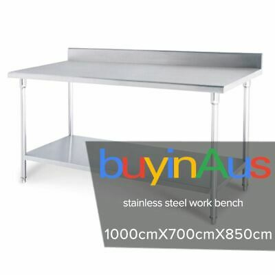 SOGA Commercial Catering Kitchen Stainless Steel Prep Work Bench 100*70*85cm