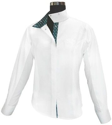 (34, White) - Equine Couture Ladies Hunter Show Shirt. Shipping Included