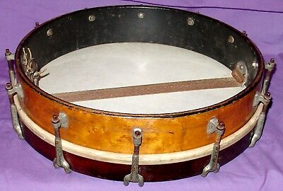 Early 1900s .  3 x 14 Solid bird's eye maple single headed piccolo snare drum
