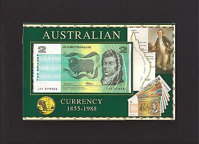 AUSTRALIA 1988 Last $2 Note and First $2 Coin Folder.