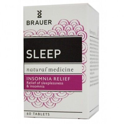 Brauer Sleep Insomnia Sleeplessness Relief 60 Tablets Relax Natural Medicine
