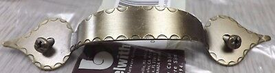 """4 NEW Belwith Antique Brass Ornate 5"""" Cabinet Drawer Pulls Deco Mounting Screws!"""