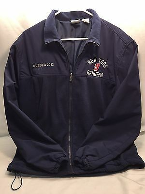 New York Rangers Men's Bauer Hockey Jacket 2012 Quebec #9 Medium Dark Blue