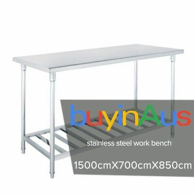 SOGA Commercial Catering Kitchen Stainless Steel Prep Work Bench 150*70*85cm