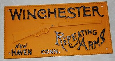 Collectable Cast Iron Winchester Sign ...