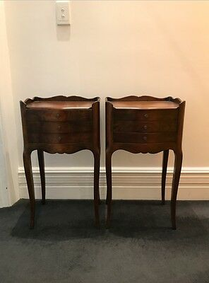 French Salon side tables with three mini drawers