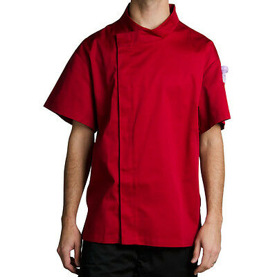 Chef Revival J020TM-M Cool Crew Fresh Size 42 (M) Tomato Red Customizable Chef