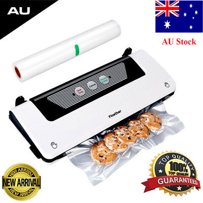 Vacuum Food Sealer Machine Kitchen Saver Storage Preservation with Free Bag Roll