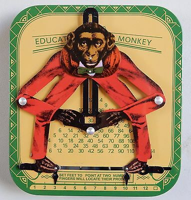 Educated Monkey Multiplication Calculator Vintage Learning Times Tables Fun!