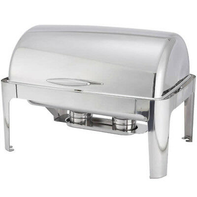 Full size roll top Chafer 8 qt. Stainless Steel