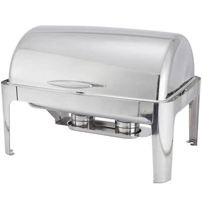 Full size roll top Chafing dish set 8 qt. Stainless Steel commercial heavyweight