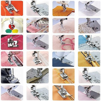 32pcs Presser Feet Metal Fringe Foot For Janome Brother Singer Sewing Machine
