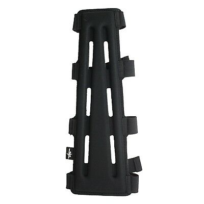 SAS 29cm Black Long Archery Armguard with 4-Strap Buckles. Delivery is Free