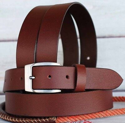 M Tackrus Brown Handmade Western 100% Cow Leather Handmade Mens Belt 2610Rs01