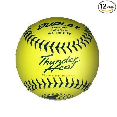 Dudley 28cm USSSA Thunder Heat Leather Fastpitch Softball - pack of 12. Spalding