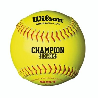 Wilson A9031 ASA Low Optic Yellow Fastpitch Softball 12 Pack. Shipping is Free
