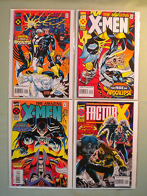 AMAZING X-MEN #1 2 3 Marvel Comics Lot 1995 FACTOR-X 1 Age Of Apocalypse Cyclops