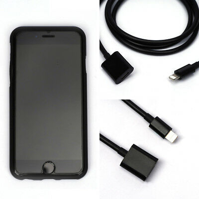 Lightning Extension Male To Female Cable Data Audio For iPhone 8 7 X iOS12 Black