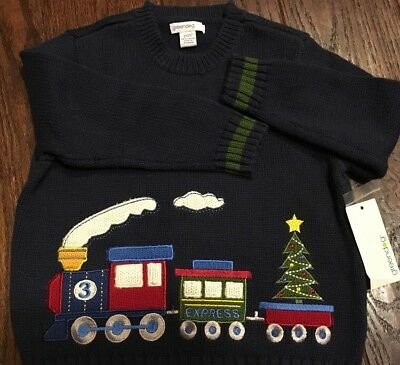 Greendog 2t Christmas Toddler Boys Knit Sweater Choo Choo Train Embroidered