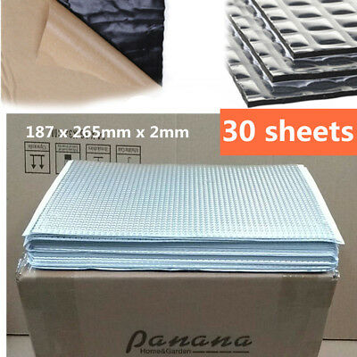 Panana 2mm 30 Sheets Pack Car Van Deadening Sound Proofing Damping Mat