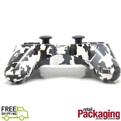 New Wireless Bluetooth Game Controller For PS3 Black Camouflage Free Shipping