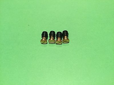 1911 grip screws and bushings, 4 each, plated 24k gold / black oxide USA made