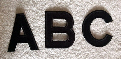 100% EMBROIDERY IRON ON LARGE LETTER PATCH BLACK WHITE & MORE ALPHABET 11x8cm