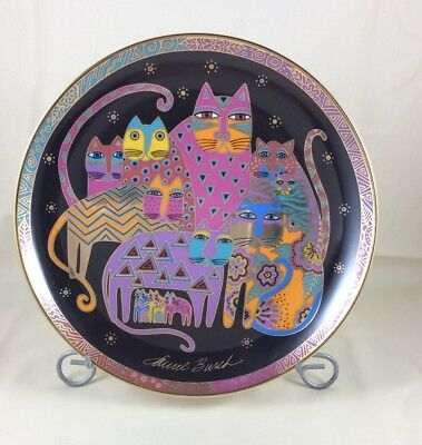 Laurel Burch Collector Plate 1995 Friendly Felines Franklin Mint