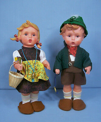 Pair of Vintage Goebel Vinyl Dolls - All Original