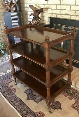 Antique Late Victorian Period Four Tier Etagere Dumb Waiter Server Trolley FS!