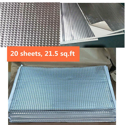 21.5 sq.ft 20 Sheets Car Deadening Vibration Sound Proofing Damping Mat 2mm